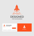 business logo template for launch mission shuttle vector image