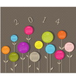 Calendar for 2014 year with flowers vector image vector image