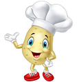 Cartoon chef potato waving hand vector image