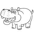 Cartoon Hippopotamus vector image vector image