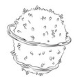 cartoon image of planet vector image vector image