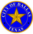 coat arms dallas in texas in united states vector image vector image