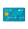 credit card isolated on white vector image vector image