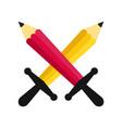 cross pencils battle vector image