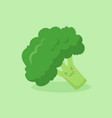 cute broccoli vegetable mascot vector image