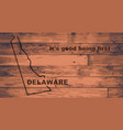 delaware map brand vector image vector image