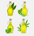 different types of plant oil bottle set vector image