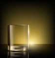 empty glass on the table vector image