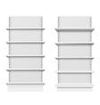 empty store shelves blank retail shelf design vector image