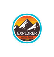 explorer adventure outdoors - concept badge vector image vector image