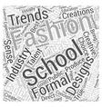 fashion schools Word Cloud Concept vector image vector image