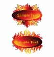 Fire and Flame Frame vector image vector image