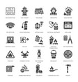 firefighting fire safety equipment flat glyph vector image vector image