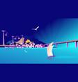 fishing village sea vector image