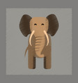 flat shading style icon cartoon elephant vector image vector image