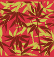 floral bamboo leaves pattern nature leaf seamless vector image