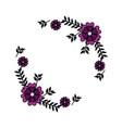 flowers wreath decoration vector image