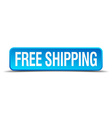 free shipping blue 3d realistic square isolated vector image vector image