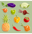 Fruits and Vegetables set 2 vector image vector image