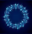 futuristic cybernetic scheme motherboard blue vector image vector image