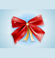 graphic realistic shiny red holiday bow knot vector image vector image