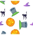 Halloween pattern cartoon style vector image