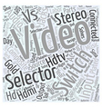 hdtv av selector switch Word Cloud Concept vector image vector image
