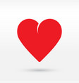 heart icon vector image vector image