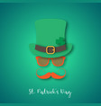 irishman with ginger mustache wearing hat vector image vector image