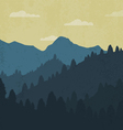 Landscape with forest and mountains vector image vector image