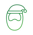 merry christmas santa claus with hat cartoon vector image vector image