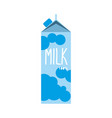 milk pack isolated dairy package on white vector image vector image
