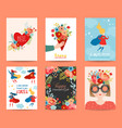 mothers day greeting card set happy mother day vector image vector image