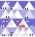 Mountain winter seamless pattern vector image