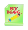 My Blog vector image