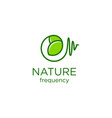 nature frequency logo designs vector image