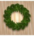 new year christmas green branch of spruce in the vector image vector image
