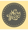 New York hand lettering vector image