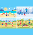 people summer outdoor activity and recreation vector image vector image