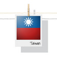 photo of taiwan flag on white background vector image