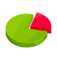Pie chart icon in cartoon style vector image vector image