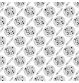 pizza seamless pattern hand drawn sketch pizza vector image vector image