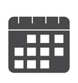 reminder date calendar planning silhouette icon vector image