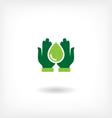 Saving water icon vector image vector image