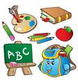 school cartoons collection vector image