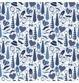 seamless pattern fathers day flat set icons on vector image vector image