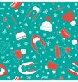 Seamless pattern with hats vector image vector image