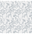 Seamless pattern with trees and branches vector image