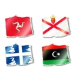set of flags vector image vector image