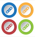 set of four icons - hanging chain vector image vector image